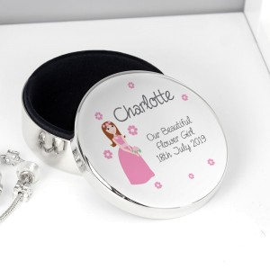 Personalised Fabulous Wedding Round Trinket Box