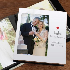 Personalised Decorative Ruby Anniversary Photo Frame Album 4x6