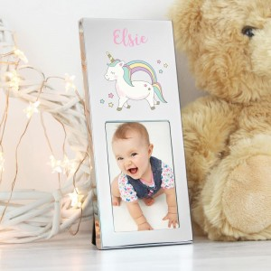 Personalised  Baby Unicorn 3x2 Photo Frame
