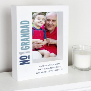 Personalised No.1 7x5 Box Photo Frame