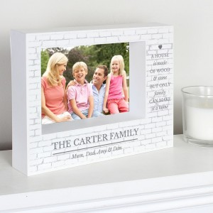Personalised Family 7x5 Landscape Box Photo Frame