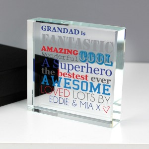 Personalised He Is... Large Crystal Token