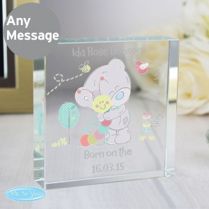 Personalised Tiny Tatty Teddy Cuddle Bug Large Crystal Token