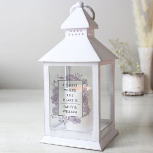 Personalised Soft Watercolour White Lantern