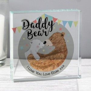 Personalised Daddy Bear Crystal Token