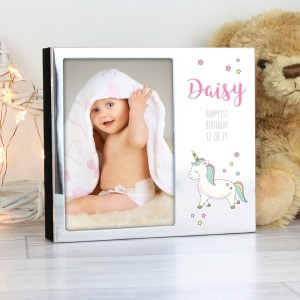Personalised Baby Unicorn 6x4 Photo Frame Album