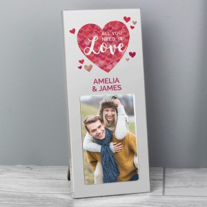 "Personalised ""All You Need is Love"" Confetti Hearts 2x3 Photo Frame"