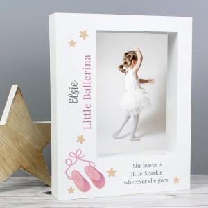 Personalised Swan Lake Ballet 5x7 Box Photo Frame
