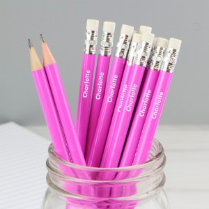 Personalised Name Only Pink Pencils