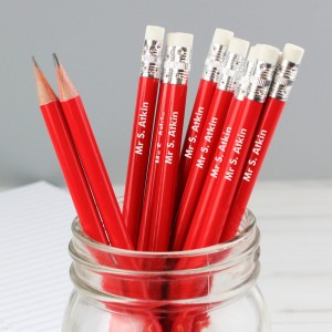 Personalised Name Only Red Pencils