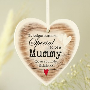 Personalised Someone Special Wooden Heart Shaped Decoration