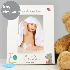 Personalised Tiny Tatty Teddy Cuddle Bug 6x4 White Photo Frame