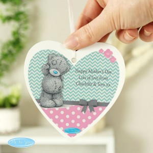Personalised Me To You Pastel Polka Dot for Her Wooden Heart Decoration