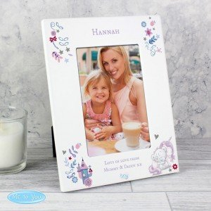 Personalised Tiny Tatty Teddy Unicorn 4x6 Photo Frame