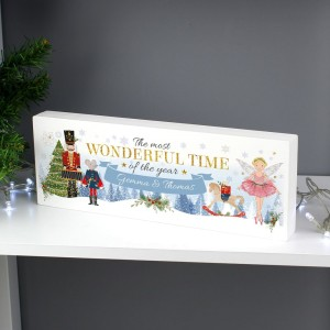 Personalised Nutcracker Wooden Block Sign