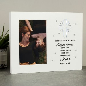 Personalised Miss You Beyond The Stars Cross LED Frame