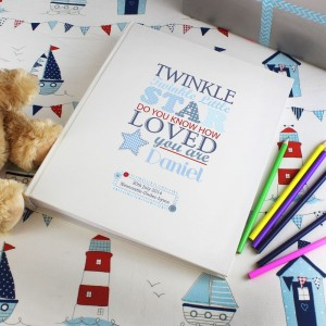 Personalised Twinkle Boys Traditional Album