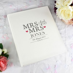 Personalised Mrs & Mrs Traditional Album
