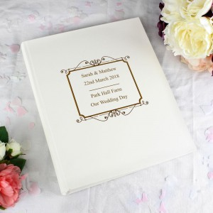 Personalised Gold Traditional Album