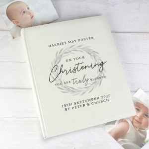 "Personalised ""Truly Blessed"" Christening Album With Sleeves"