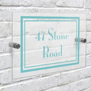 Personalised Art Deco Acrylic House Sign