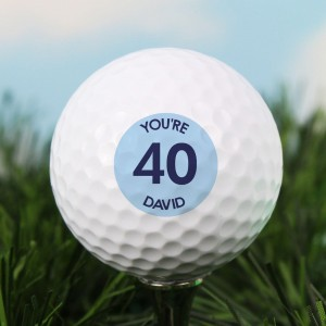 Personalised Blue Big Age Golf Ball