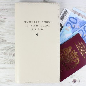 Personalised Any Message Travel Document Holder