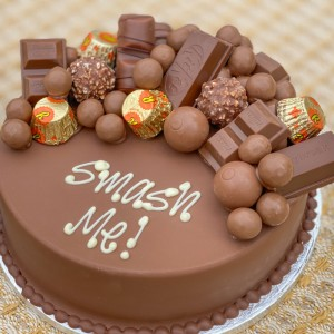 Personalise Chocoholic Smash Cake