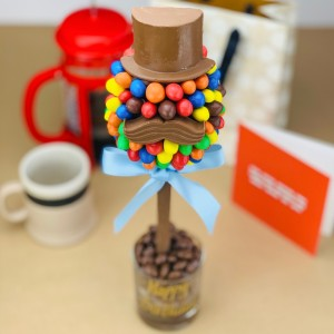 Personalised M&M Hat & Moustache Tree - 35cm