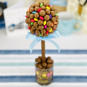 Personalised Malteser & Smarties Tree - 25cm