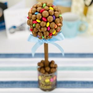 Personalised Malteser & Smarties Tree - 25cm