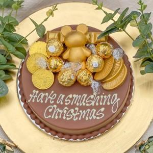 Personalised Gold Smash Cake