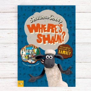 Personalised Where's Shaun? Book - Softback
