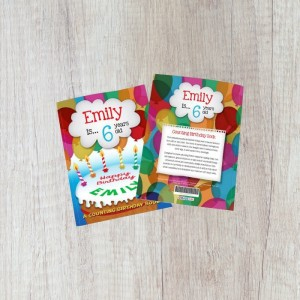 Personalised Counting Birthday Book - Hardback