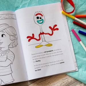 Personalised Toy Story 4 Colouring Storybook