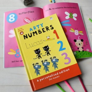 Personalised Arty Mouse Numbers Activity Book - Hardback