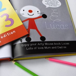 Personalised Arty Mouse Numbers Activity Book - Softback