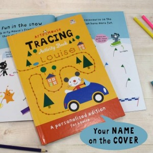 Personalised Arty Mouse Tracing Activity Book - Softback