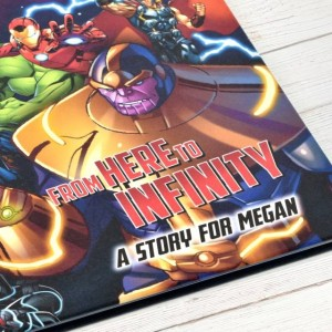 Avengers Beginnings from Here to Infinity Personalised Marvel Story Book - Softback