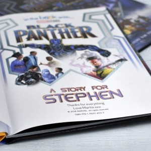 Black Panther Personalised Marvel Story Book - Hardback