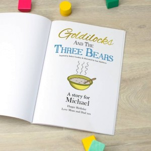 Signature Favourite Personalised Goldilocks & The Three Bears Story Book