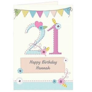 Personalised Birthday Craft Card