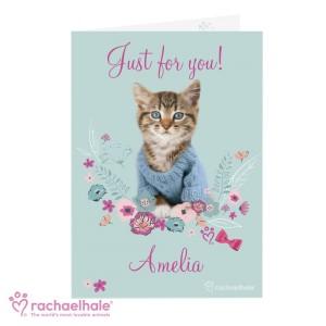 Personalised Rachael Hale Cute Kitten Card