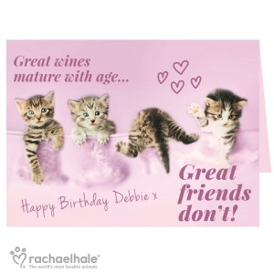 "Personalised Rachael Hale ""Great Friends"" Card"