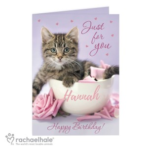 "Rachael Hale ""Just for You"" Kitten Card"