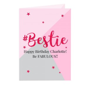 Personalised #Bestie Card