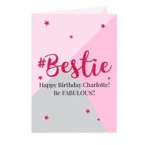 Personalised #Bestie Card