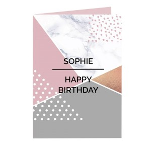 Personalised Geometric Card