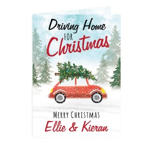 "Personalised ""Driving Home For Christmas'"" Card"