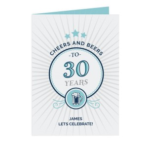 Personalised Cheers and Beers Birthday Card